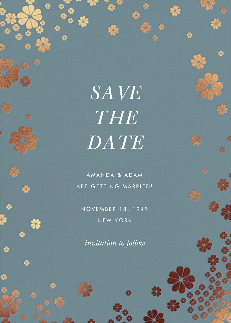 Clover and Over - Cadet - kate spade new york - Save the date