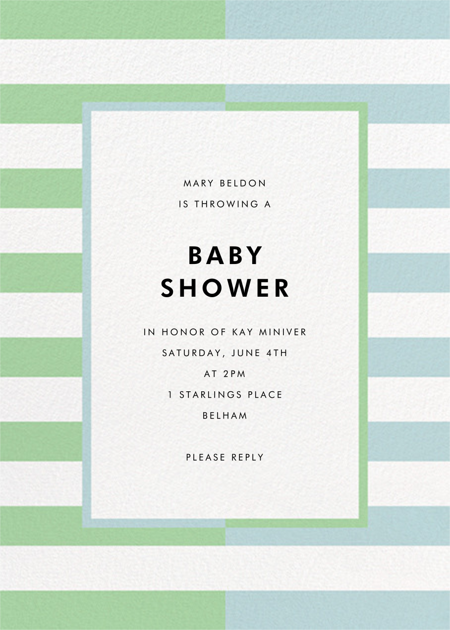 Colorblocked Stripes - Green/Blue - kate spade new york - Baby shower