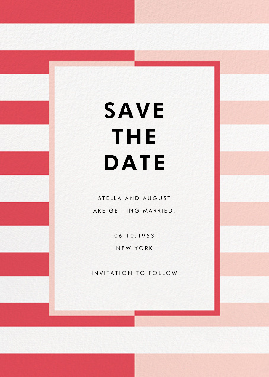Colorblocked Stripes - Pink - kate spade new york - Save the date