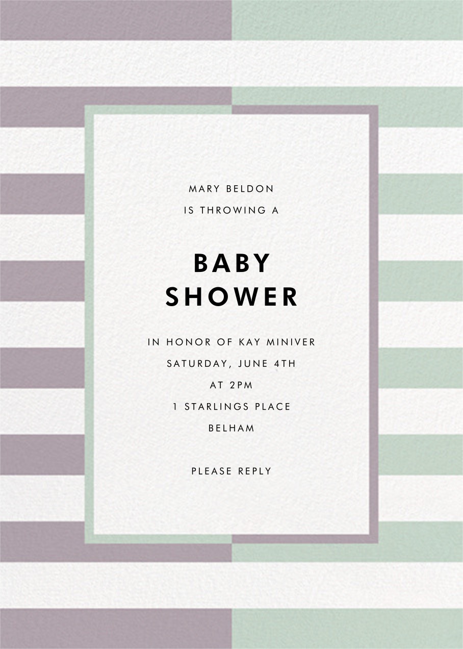 Colorblocked Stripes - Lilac/Mint - kate spade new york - Baby shower
