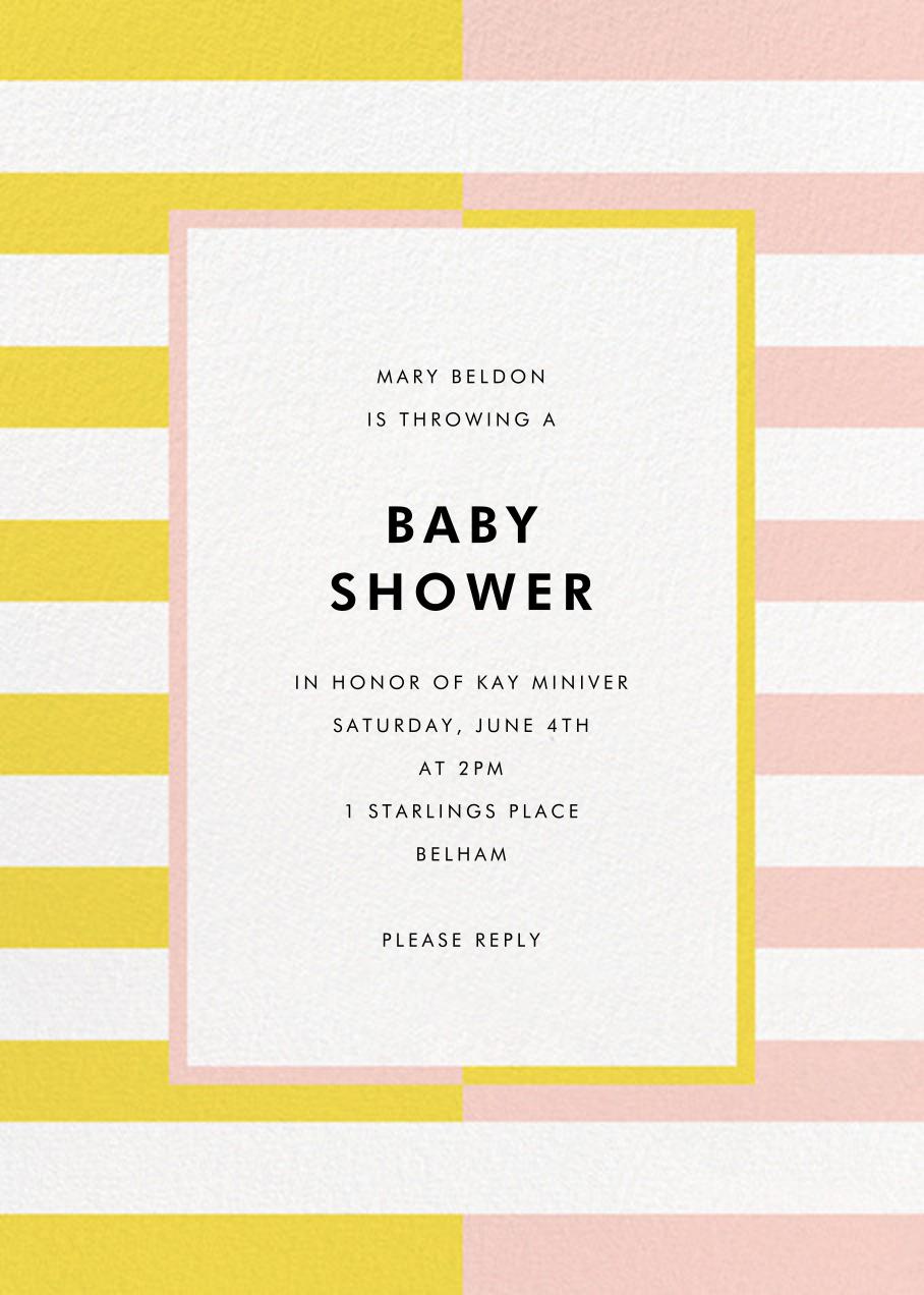 Colorblocked Stripes - Yellow/Pavlova - kate spade new york - Baby shower