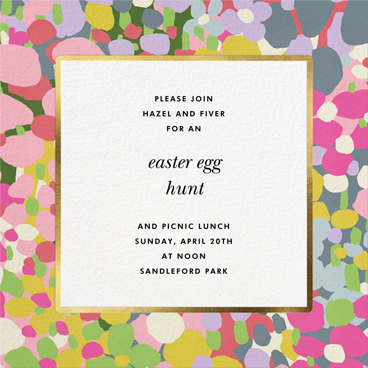 Fauve Border - kate spade new york - Easter