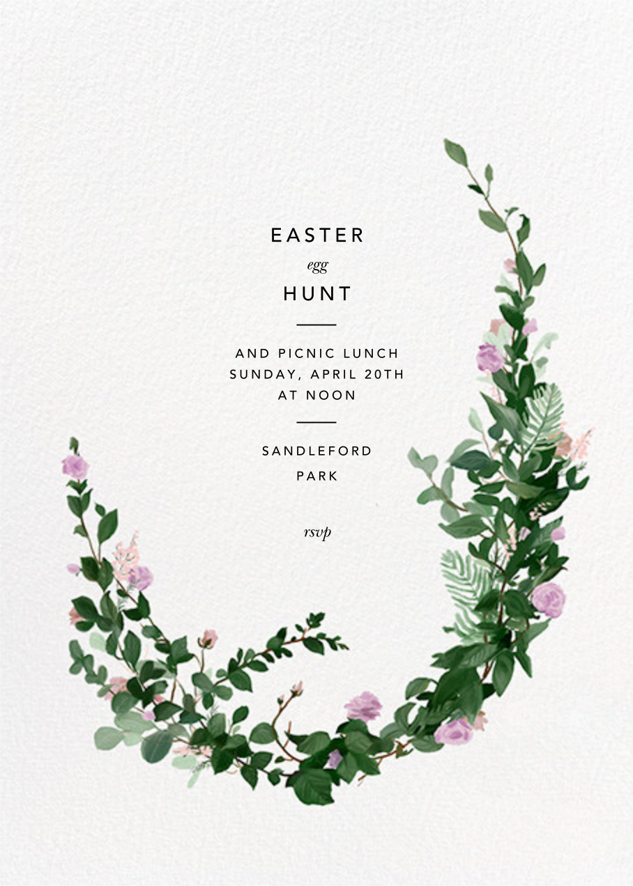 Rosedal - Lilac - Paperless Post - Easter