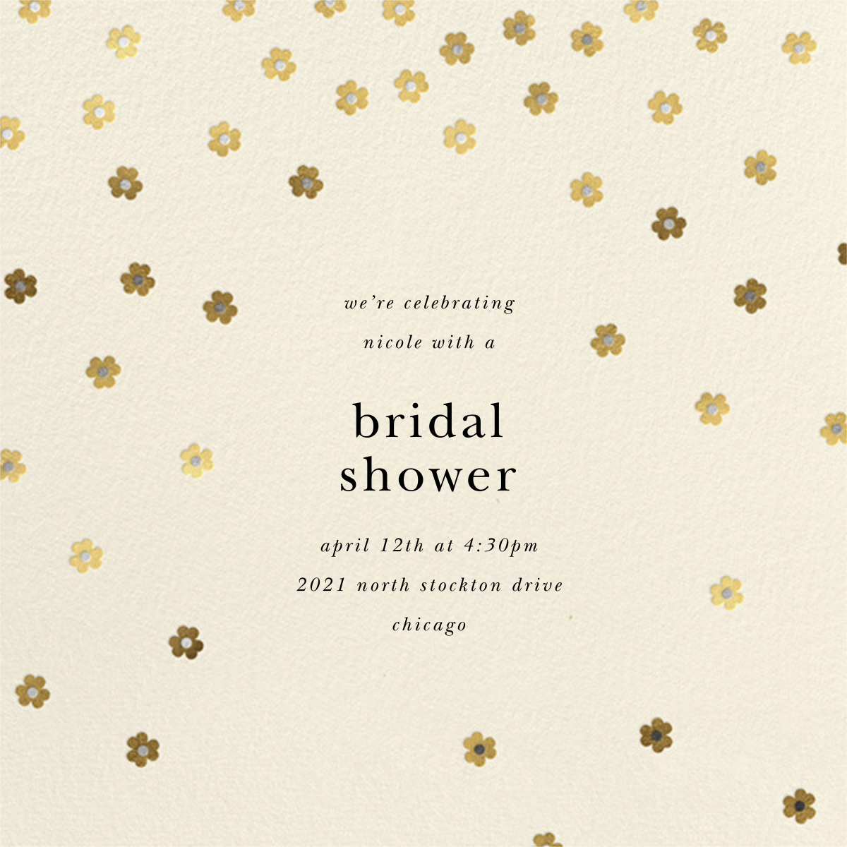 Orchid Shower (Square) - Cream - kate spade new york - Bridal shower