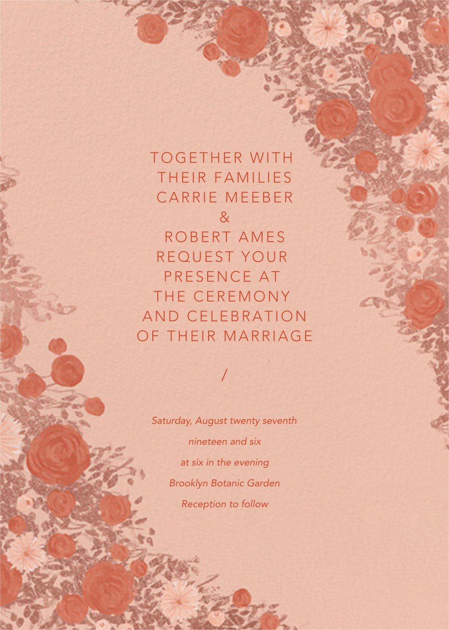 Centifolia (Invitation) - Rose Gold - Paperless Post - All