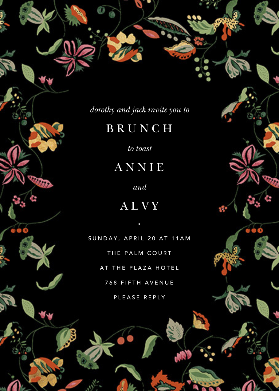 Sloane Street - Anthropologie - Wedding brunch