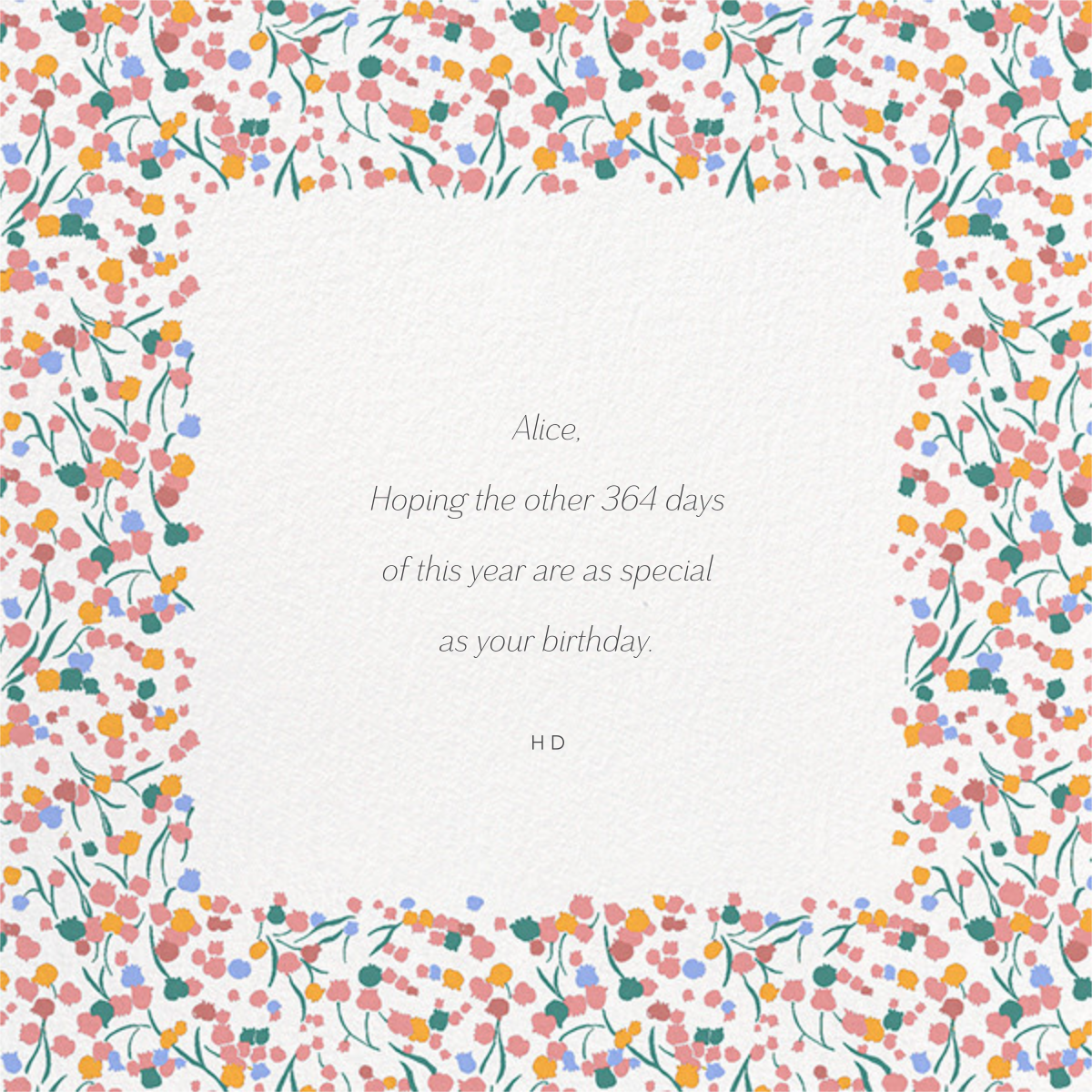 Tender Buttons Photo - White - Anthropologie - Free birthday eCards - card back