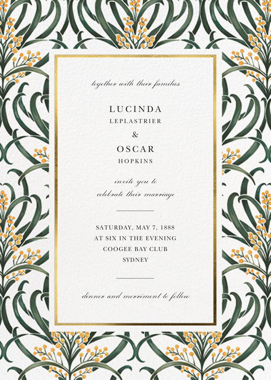 Flowering Mimosa (Invitation) - White - Oscar de la Renta