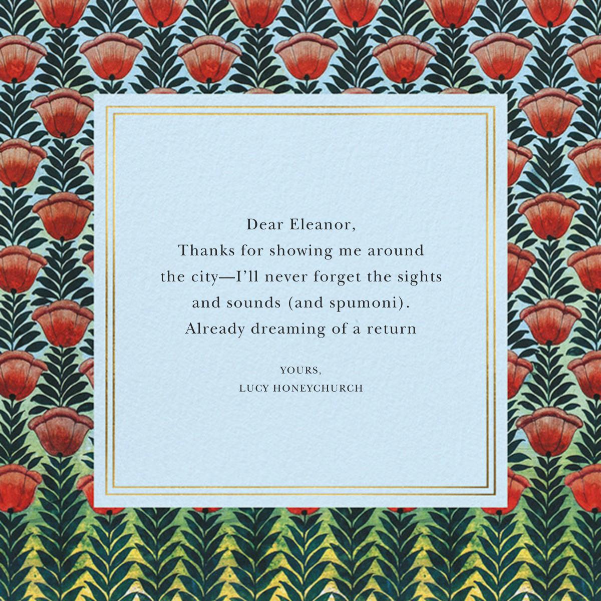Climbing Poppies - Oscar de la Renta - Thank you