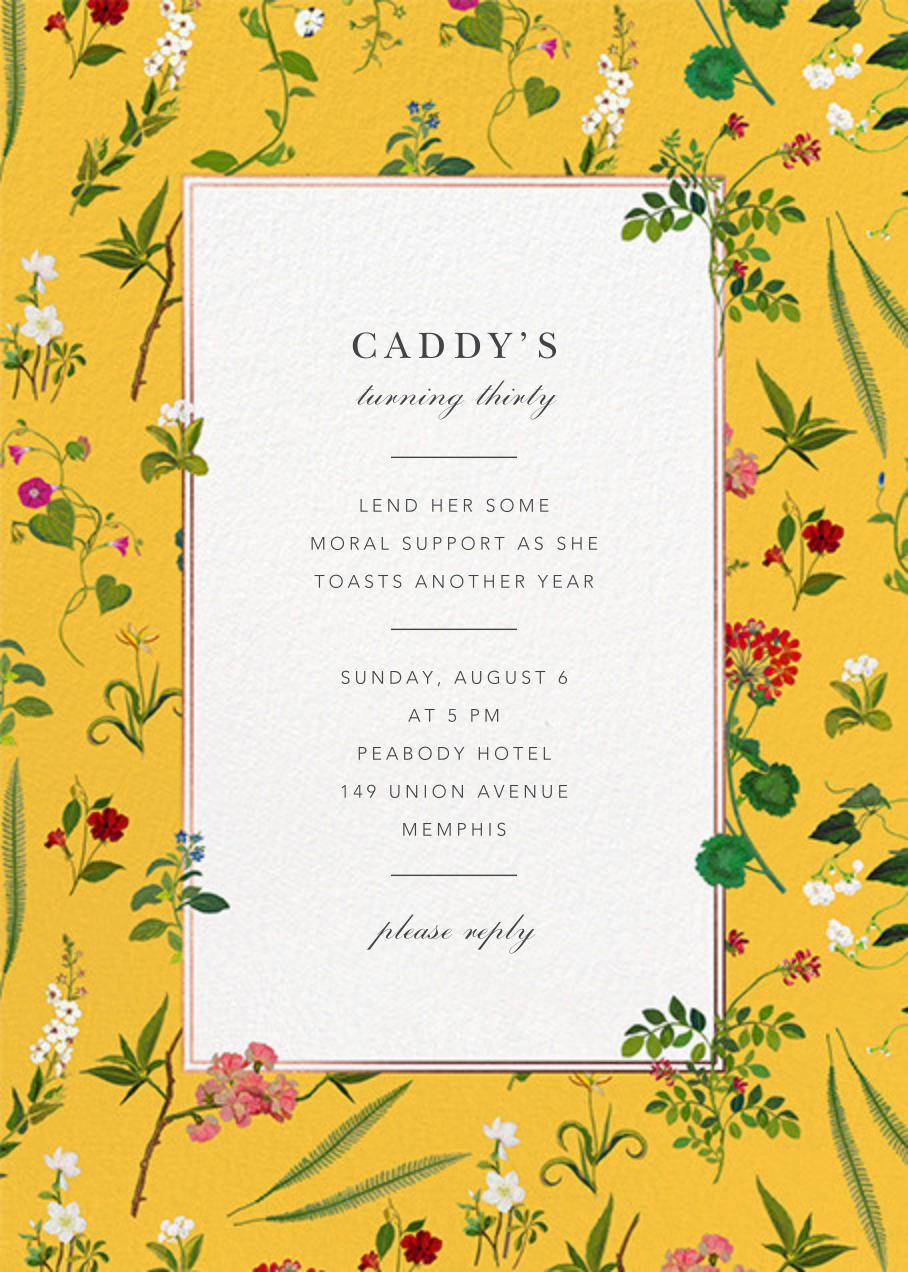 Wildflower Cuttings - Mustard - Oscar de la Renta - Adult birthday
