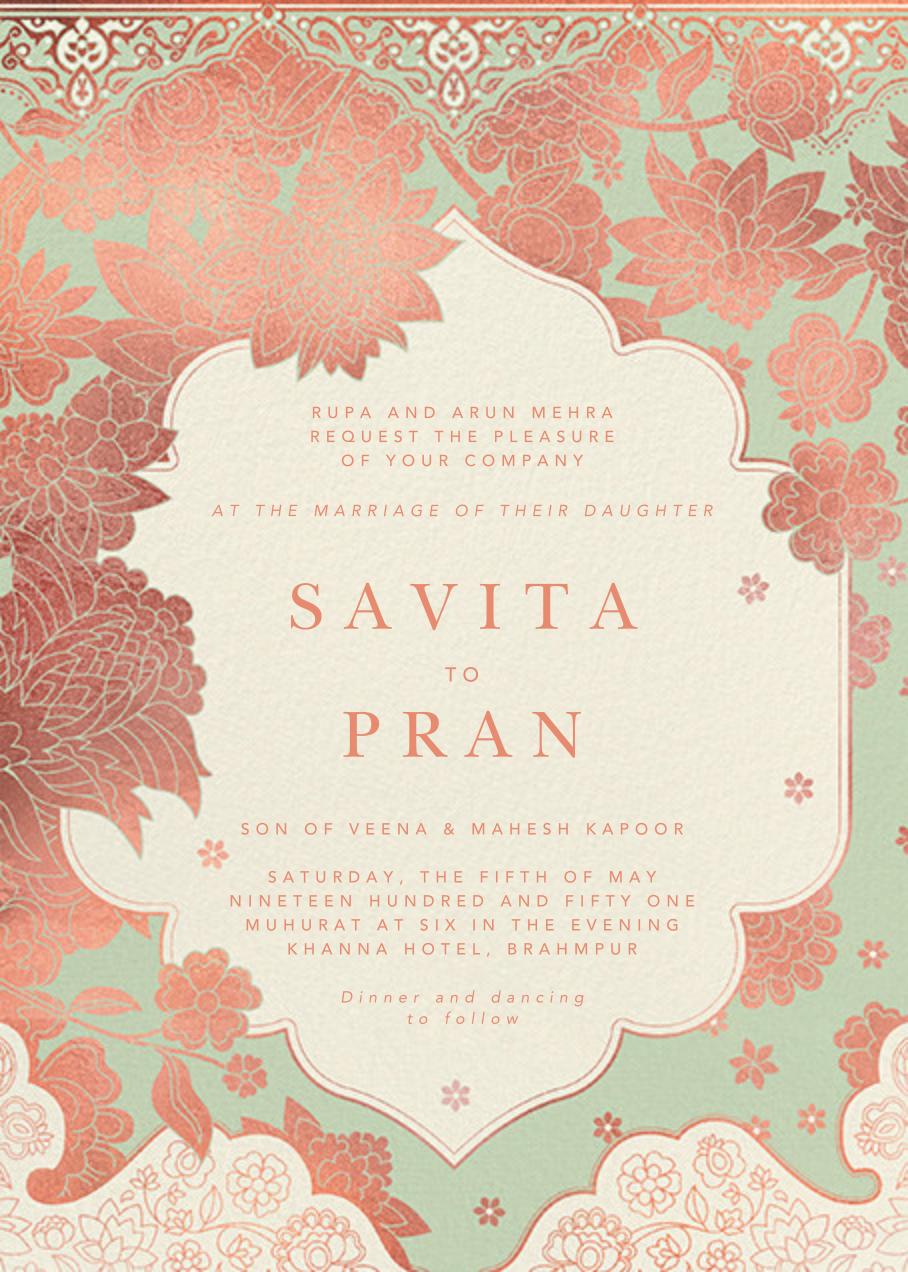 Sanganeri (Invitation) - Samphire - Paperless Post - Indian