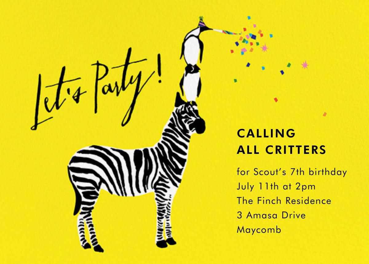 Wildlife of the Party - Cheree Berry - Kids' birthday