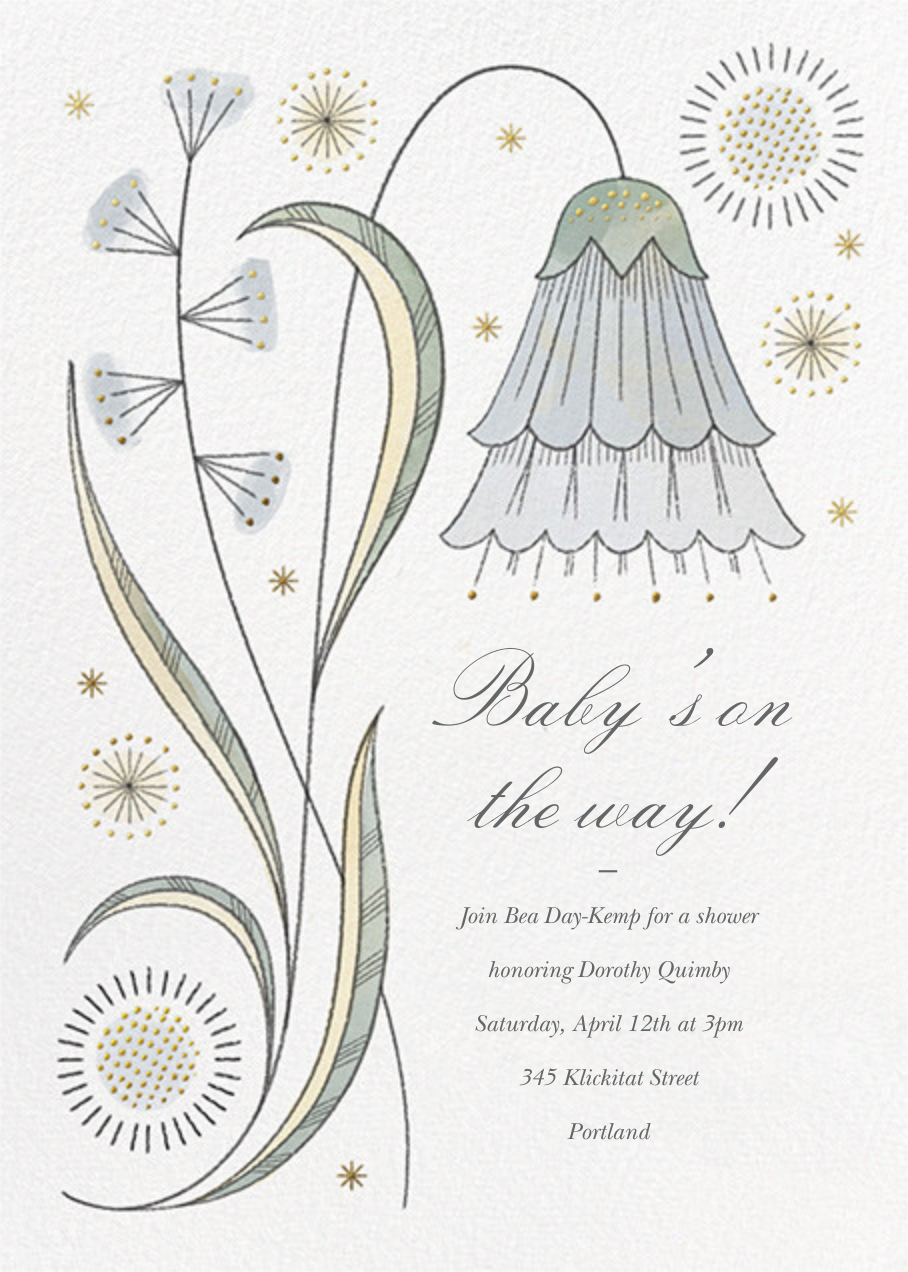 May Belle - Gray Green - Paperless Post - Baby shower