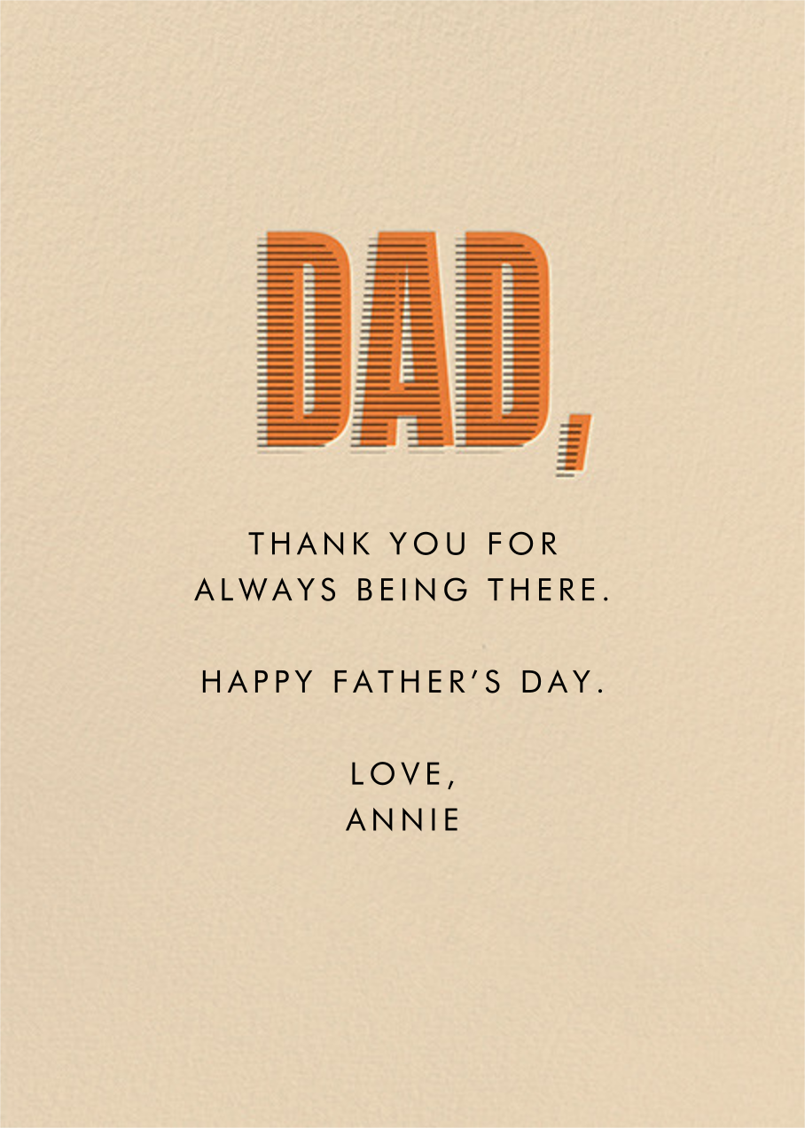Earned Your Stripes - Champagne - Paperless Post - Father's Day - card back
