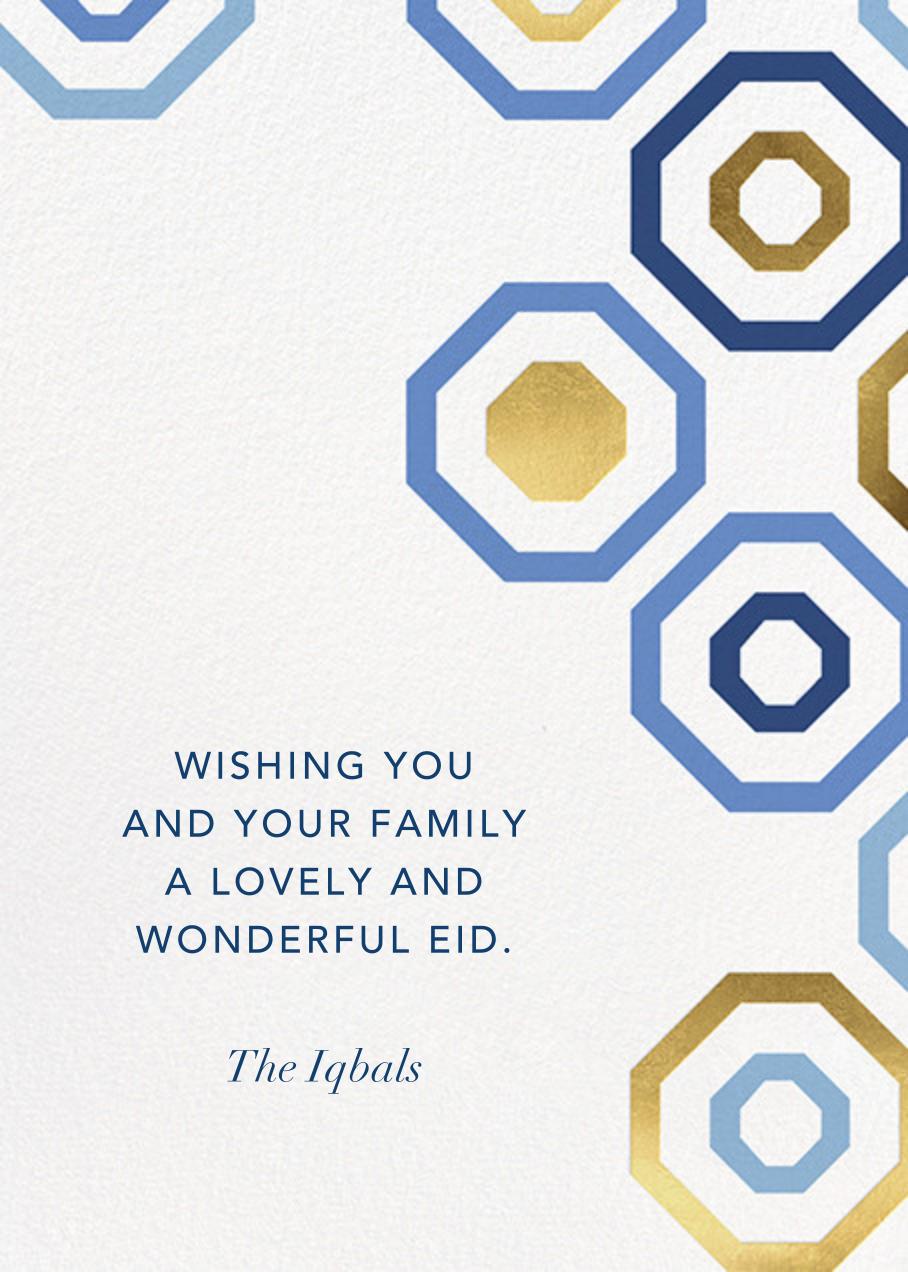 Octagons - Blue/Gold - Paperless Post - Ramadan and Eid
