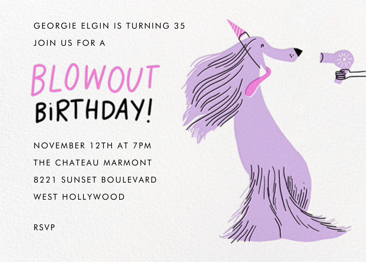 Blowout (Invitation) - Hello!Lucky - Adult birthday