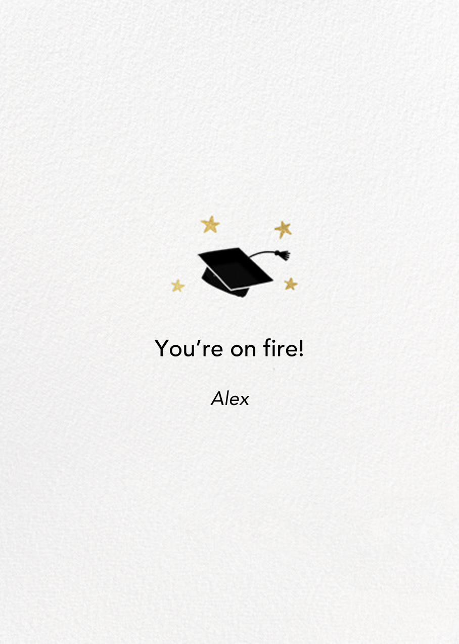 Easy Tiger - Hello!Lucky - Graduation - card back