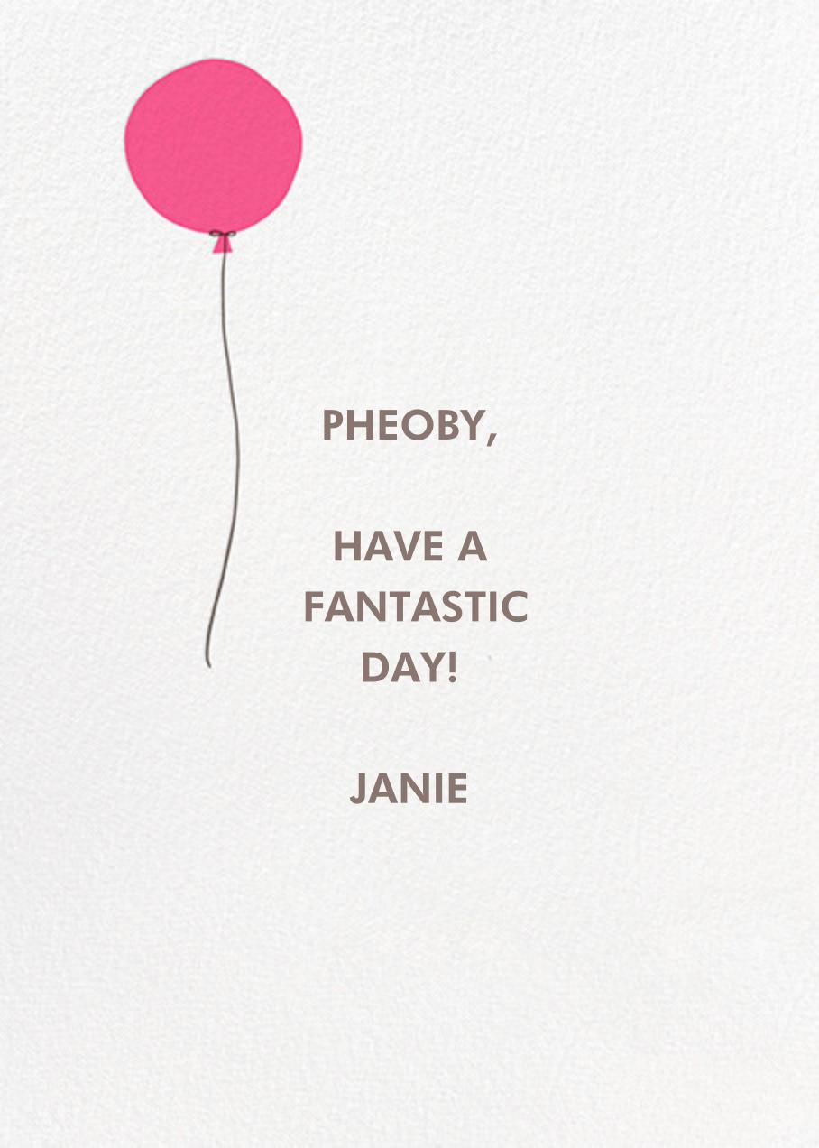 On Point - Hello!Lucky - Birthday - card back
