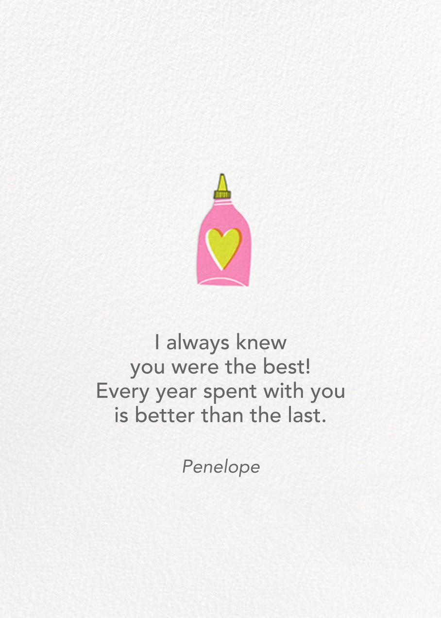 Pho Evah  - Hello!Lucky - Anniversary cards - card back