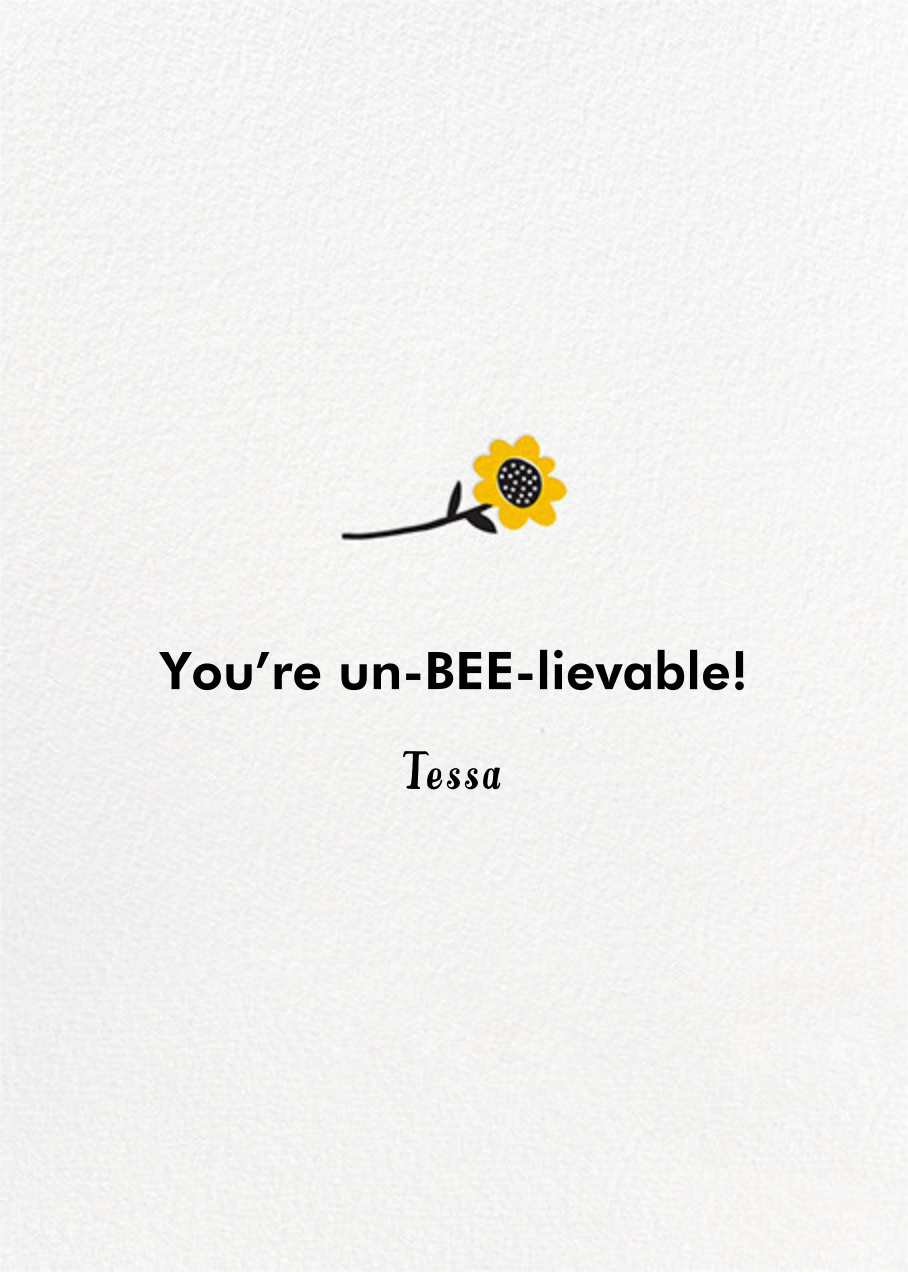 Queen Bee - Hello!Lucky - Mother's Day - card back