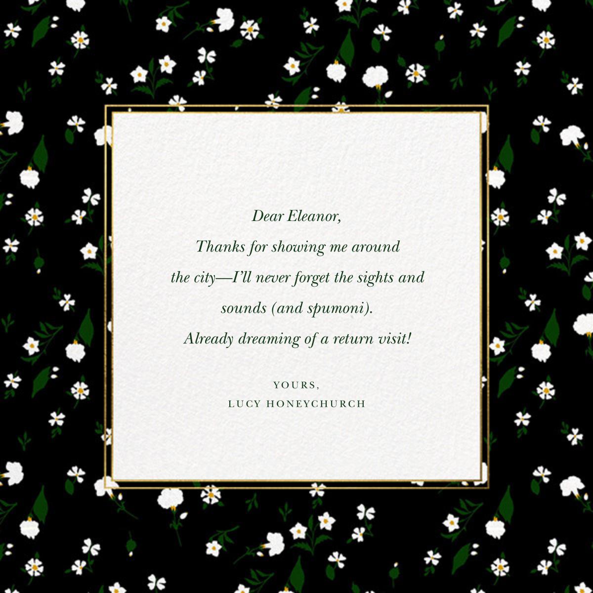 Tossed Daisies - Oscar de la Renta - Thank you