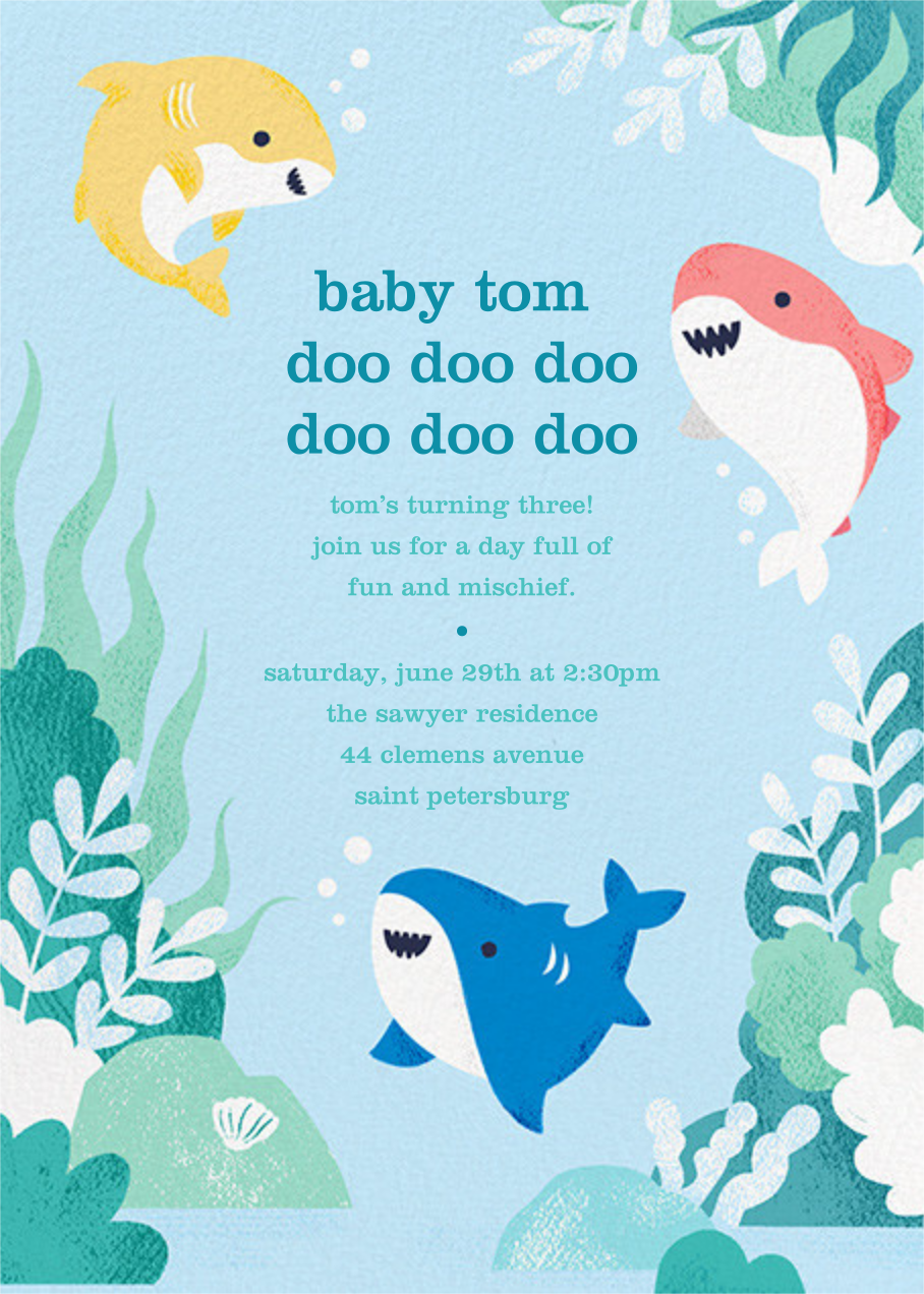 Shark Your Calendar - Paperless Post - Kids' birthday
