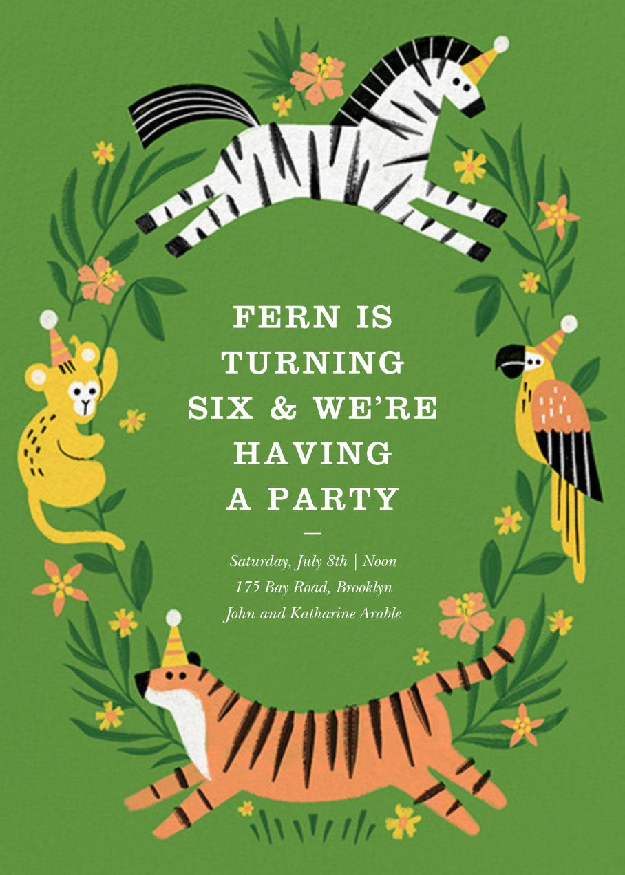 Jungle Fun - Paperless Post - Kids' birthday