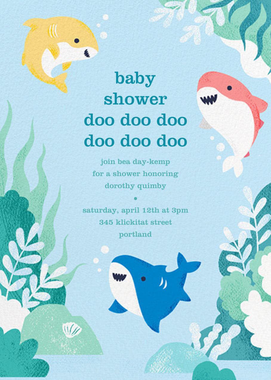 Shark Your Calendar - Paperless Post - Baby shower