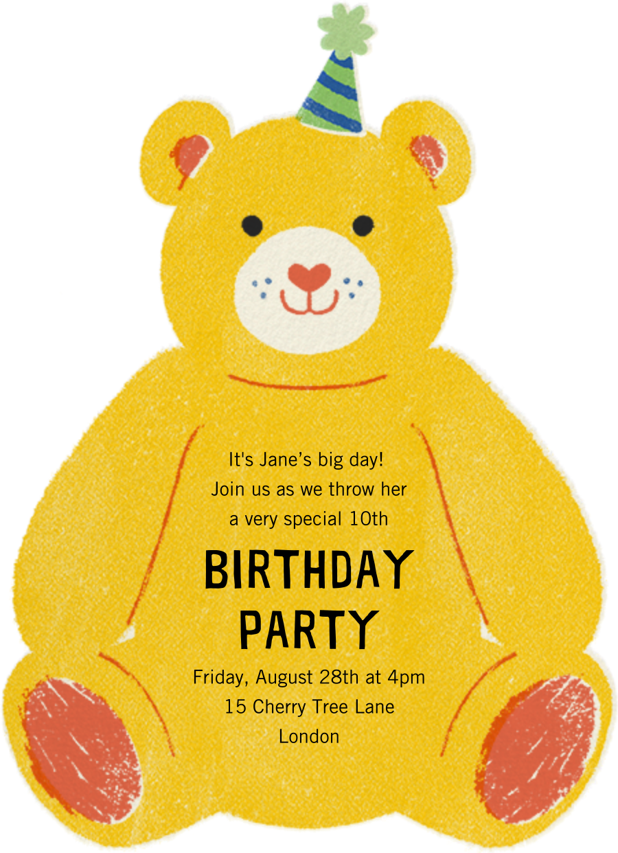 Beary Fun Birthday - Paperless Post - Kids' birthday