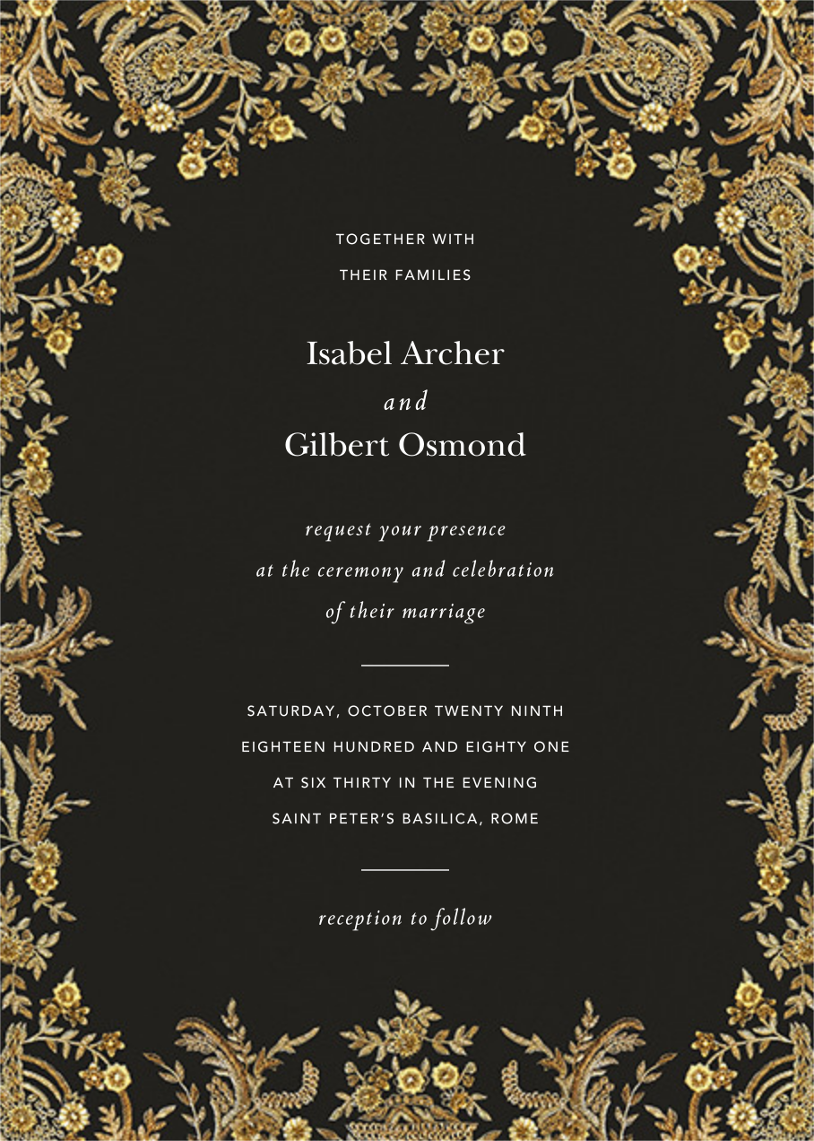 Valentina (Invitation) - Caviar - Brock Collection