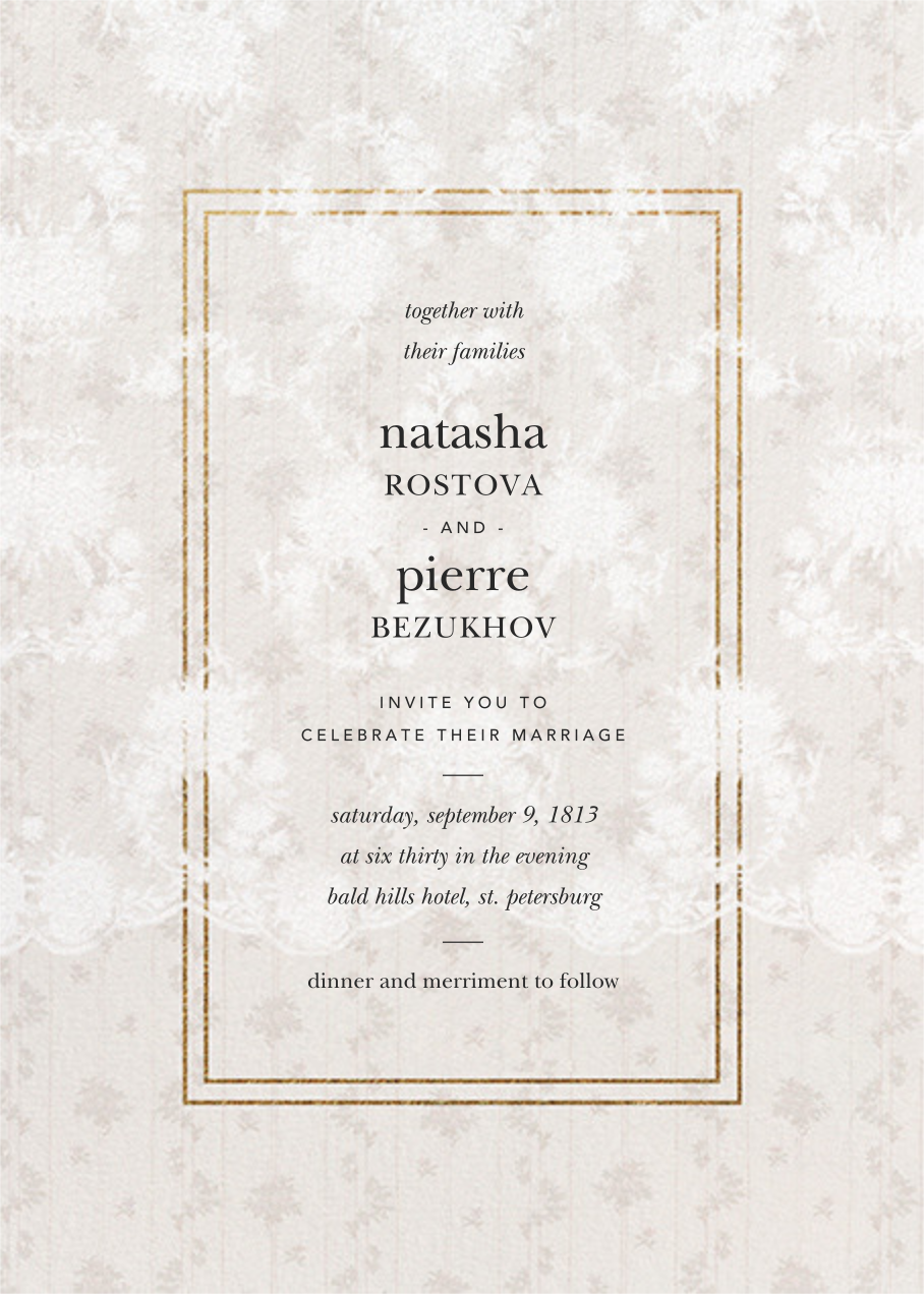 Elisabetta (Invitation) - Cream - Brock Collection - All
