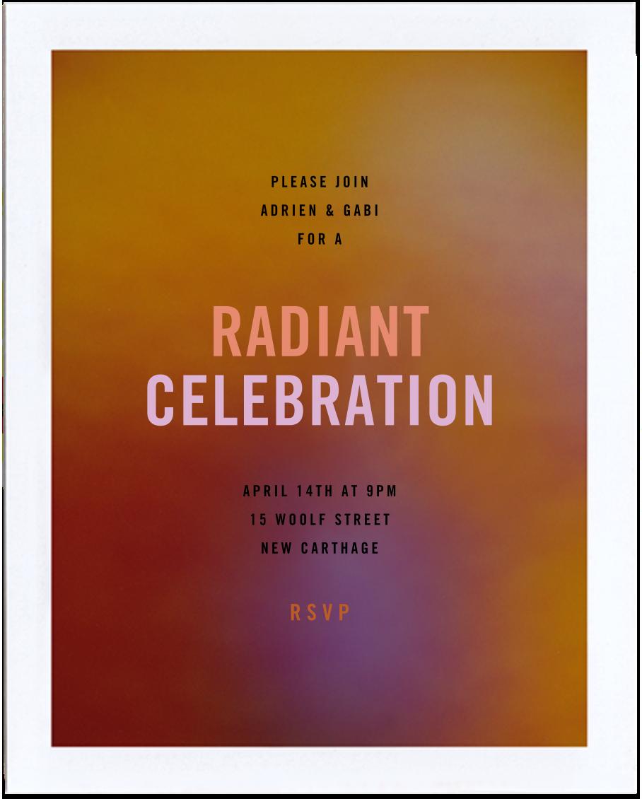 Aura - Orange - Radiant Human - Adult birthday