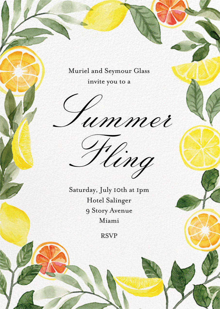 Lemon Leaves - Paper Source - Summer entertaining