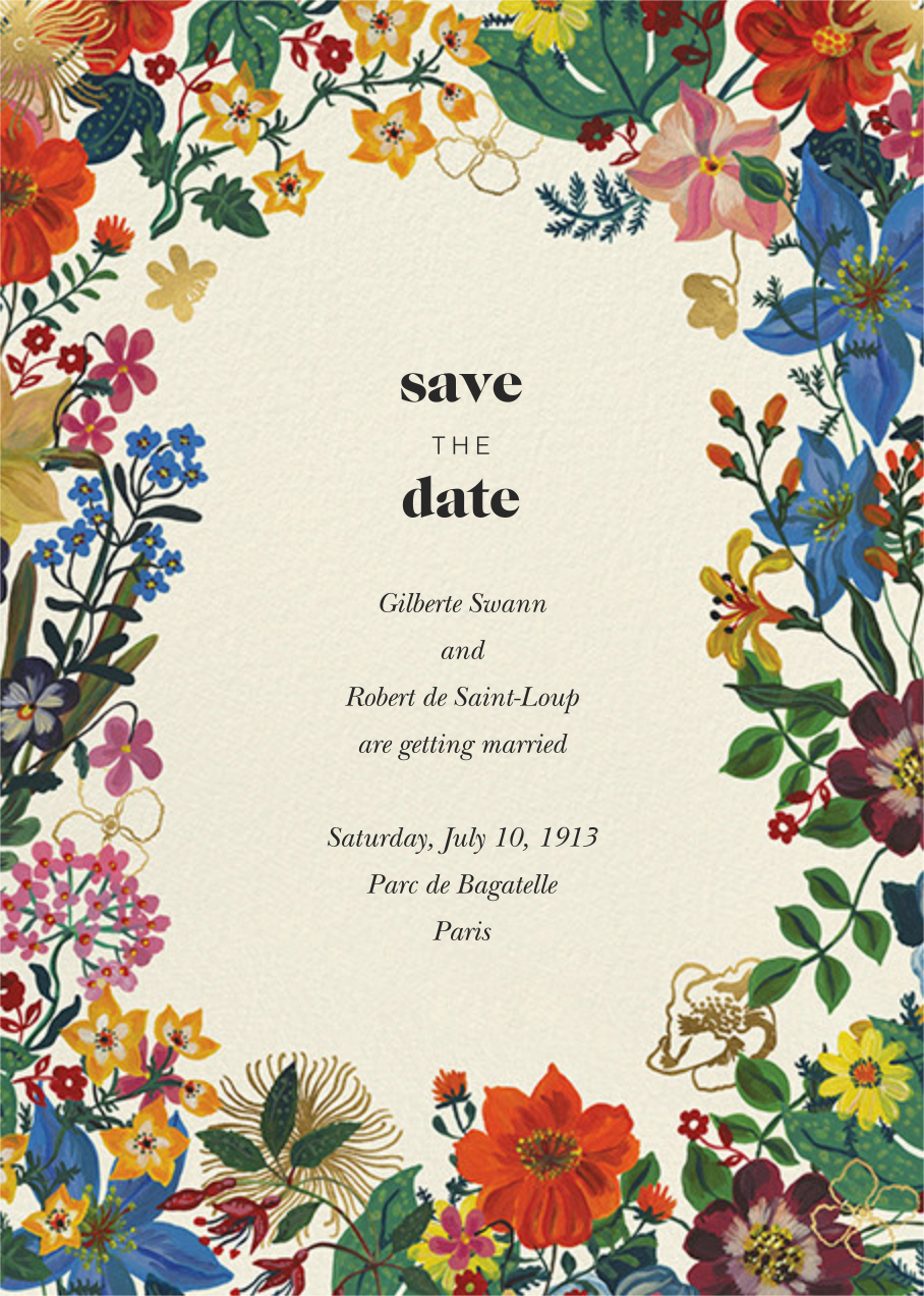 En Fleurs - Cream - Nathalie Lété - Save the date
