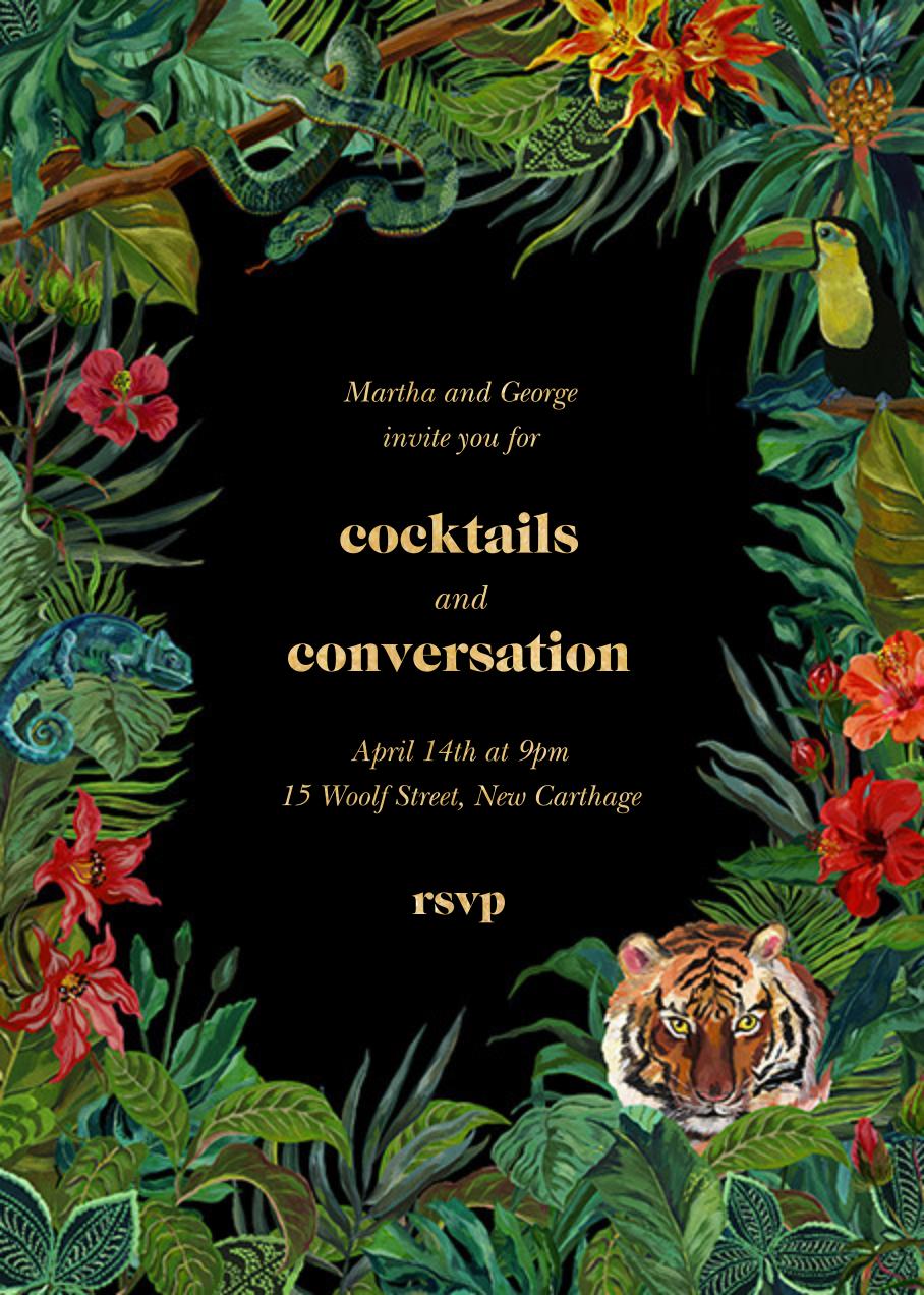 Le Tigre - Black - Nathalie Lété - Cocktail party