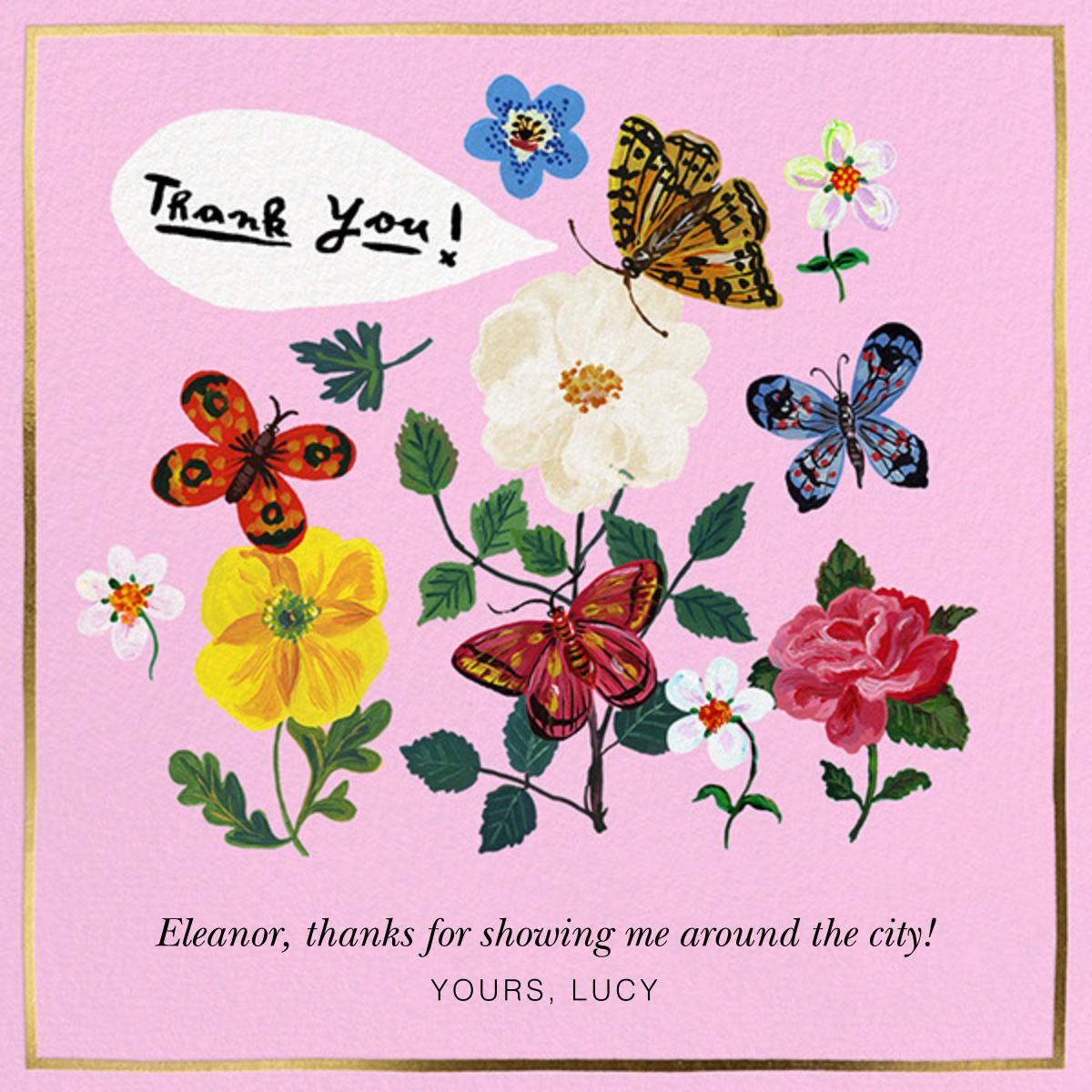 Papillons Dansants - Carnation - Nathalie Lété - Thank you