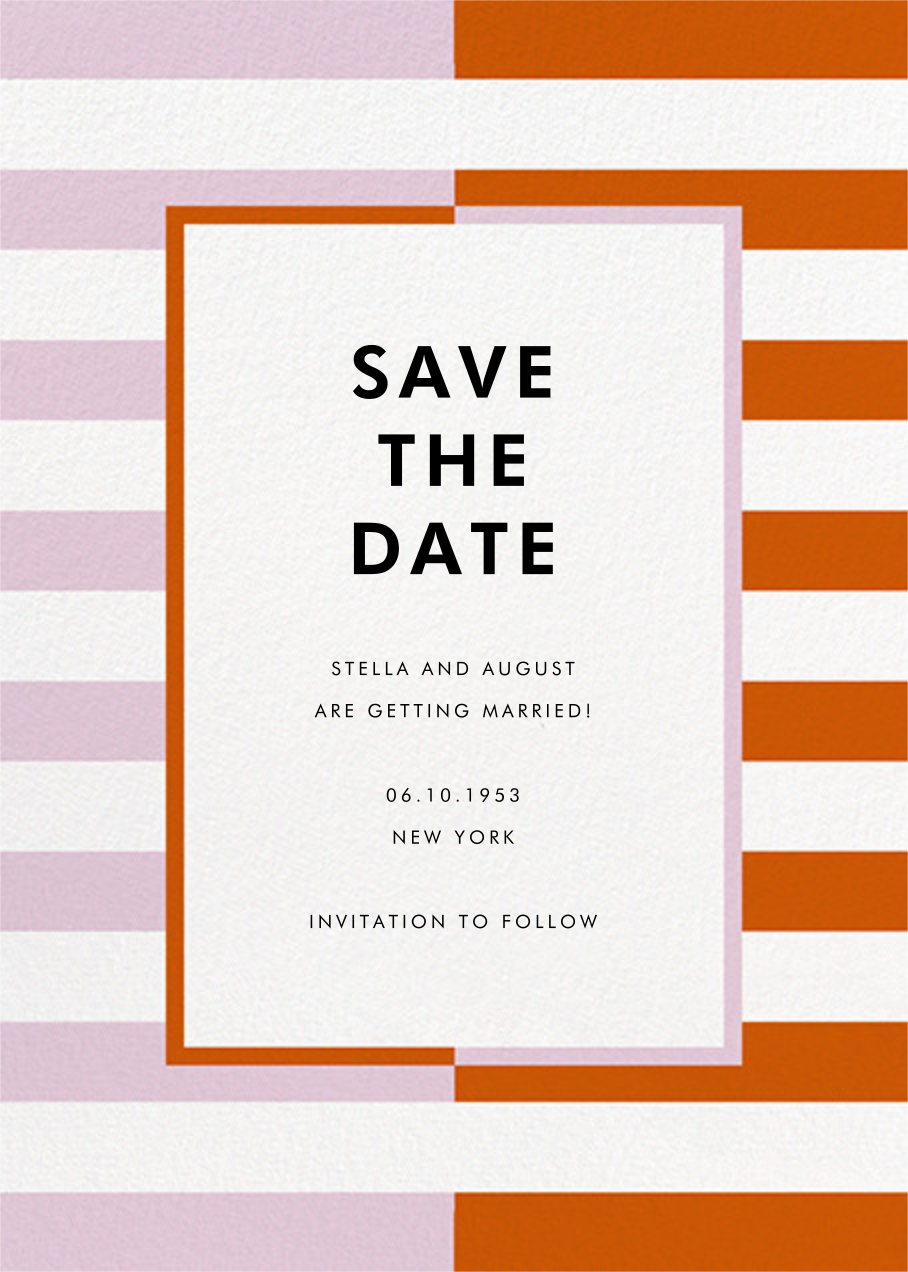 Colorblocked Stripes - Hydrangea/Longhorn - kate spade new york - Save the date