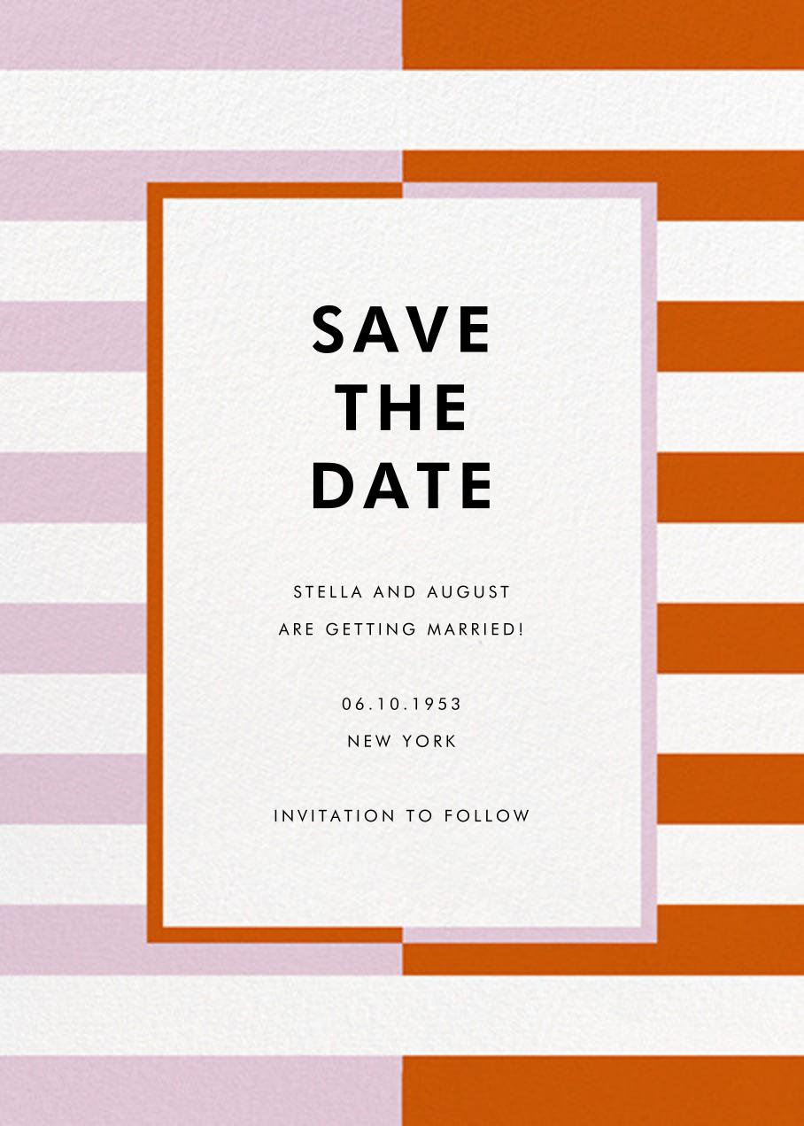 Colorblocked Stripes - Hydrangea/Longhorn - kate spade new york - Save the date