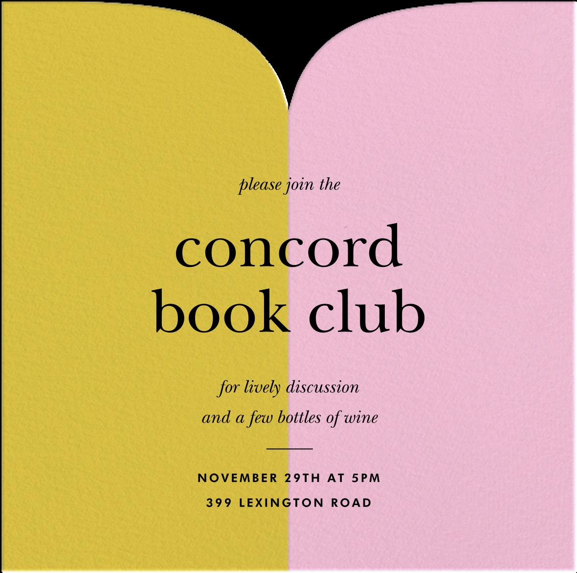 Two Halves - Paella/Pavlova - kate spade new york - Book club