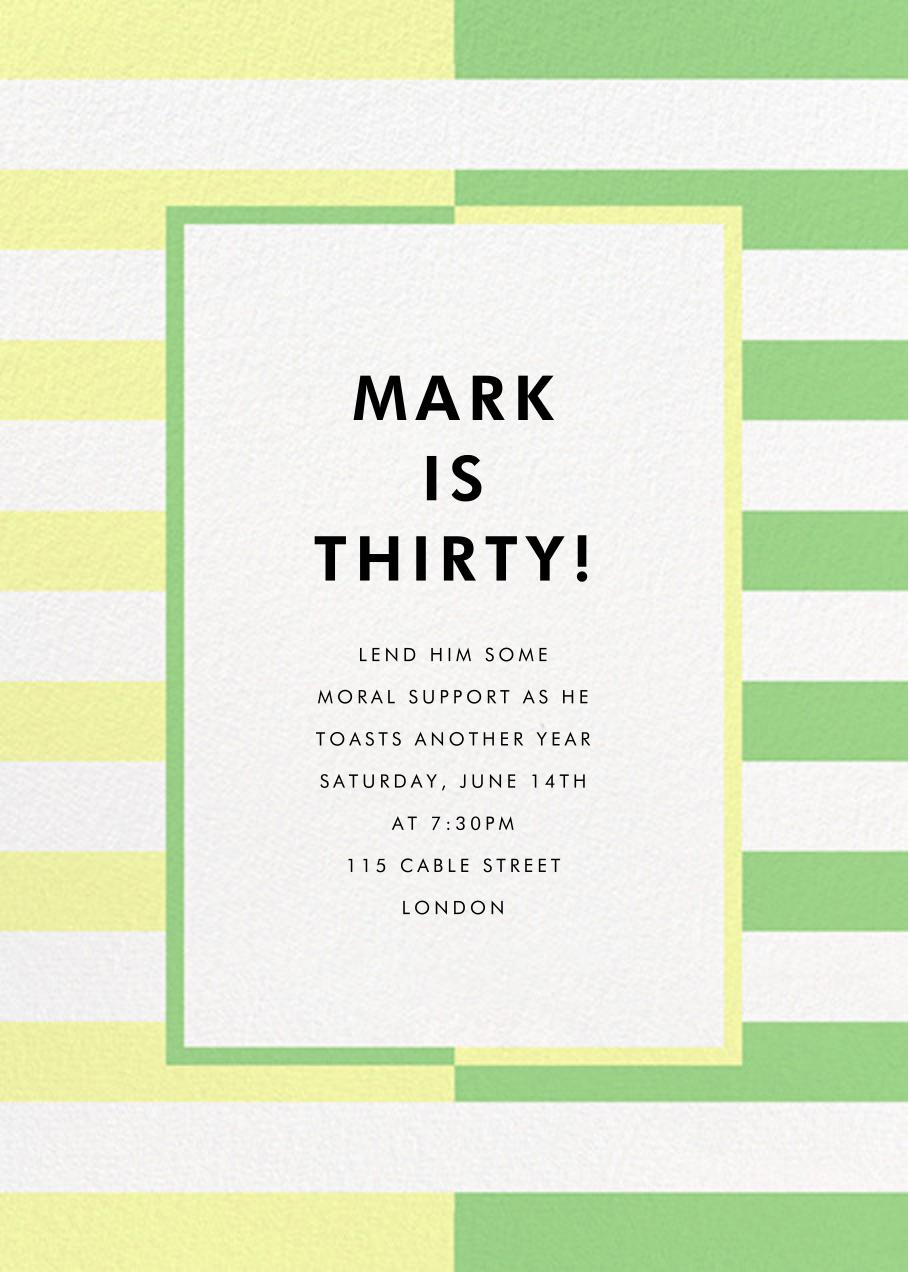 Colorblocked Stripes - Lemon Drop/Meadow - kate spade new york - Adult birthday