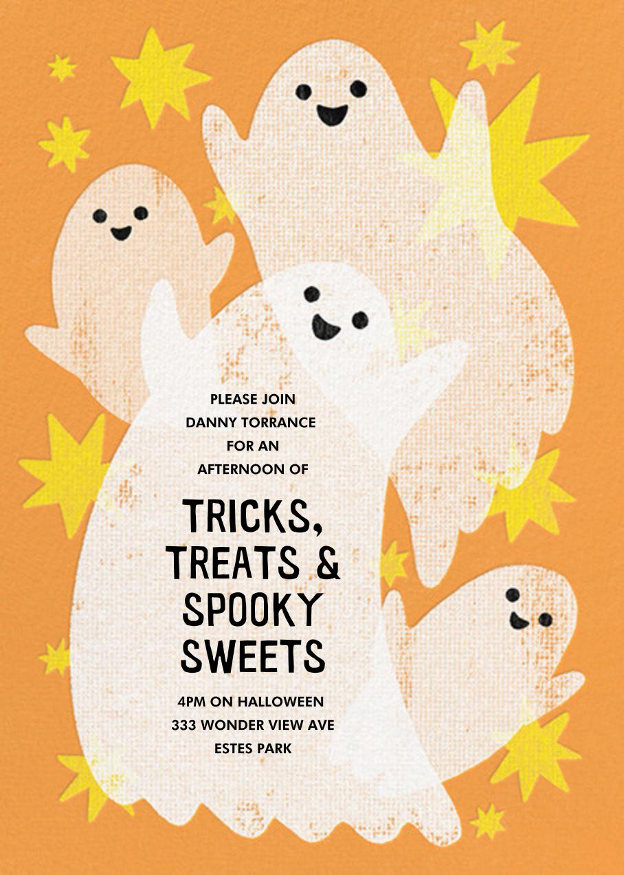 Glowing Ghosts - Paperless Post - Halloween