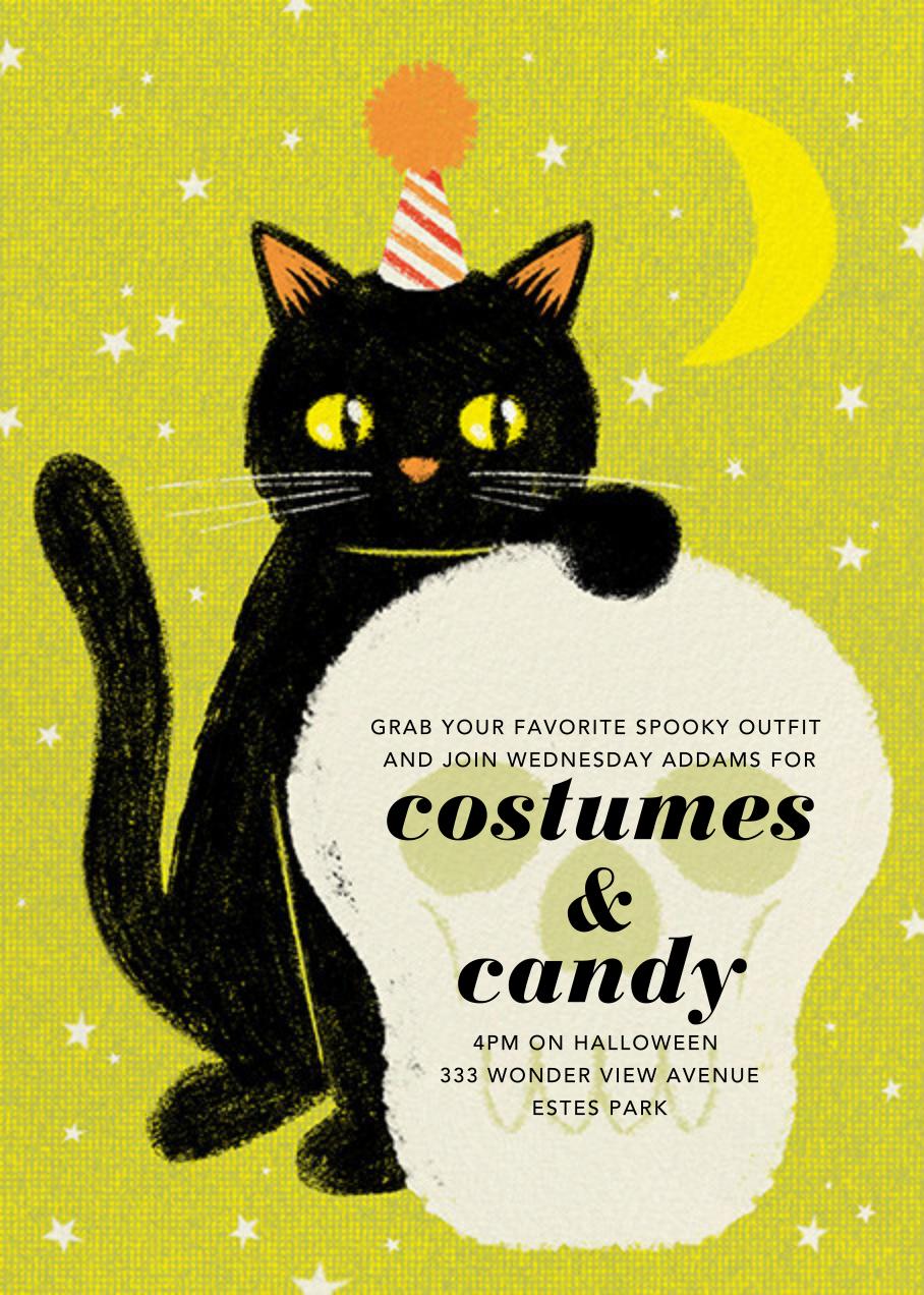 Black Cat - Paperless Post - Halloween