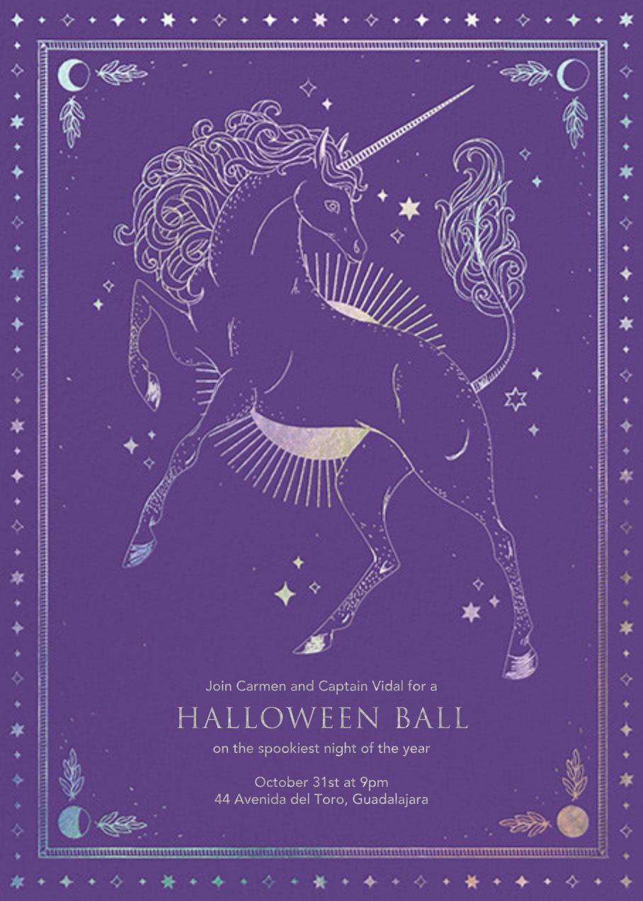 Unicorn Spell - Amethyst - Paperless Post - Halloween