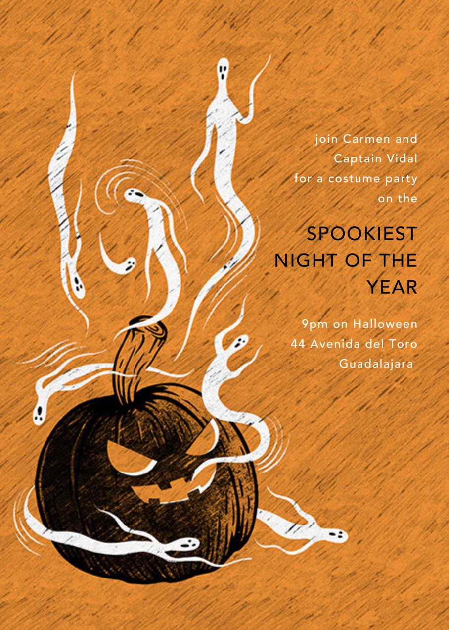 Haunted Pumpkin - Paperless Post - Halloween