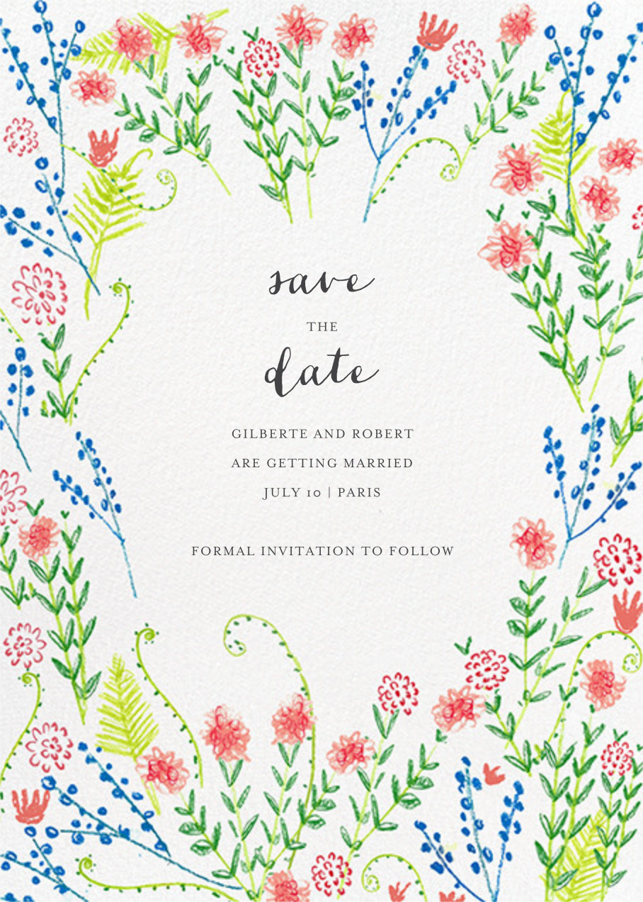 Penciled Garden - Mr. Boddington's Studio - Save the date