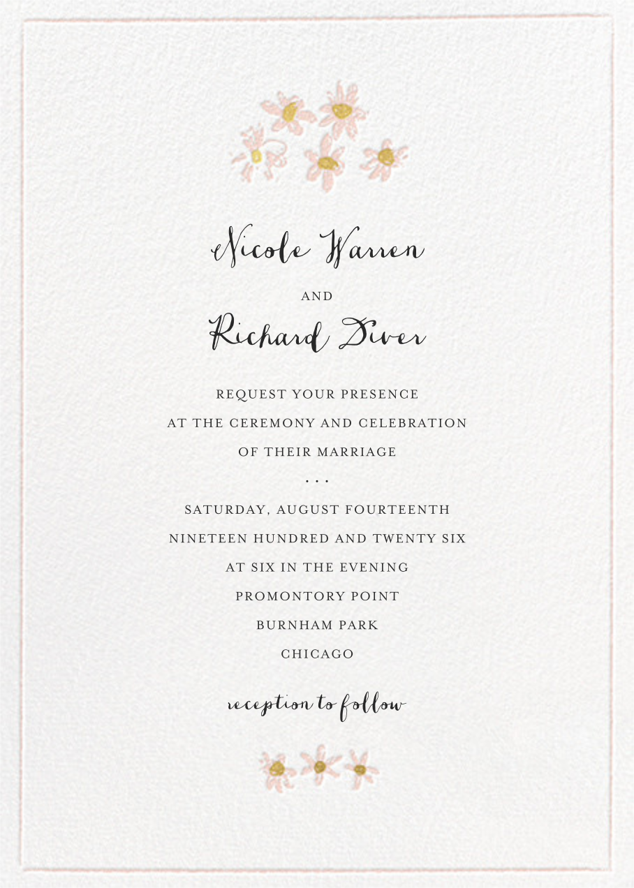 Better Daisies (Invitation) - White - Mr. Boddington's Studio - All