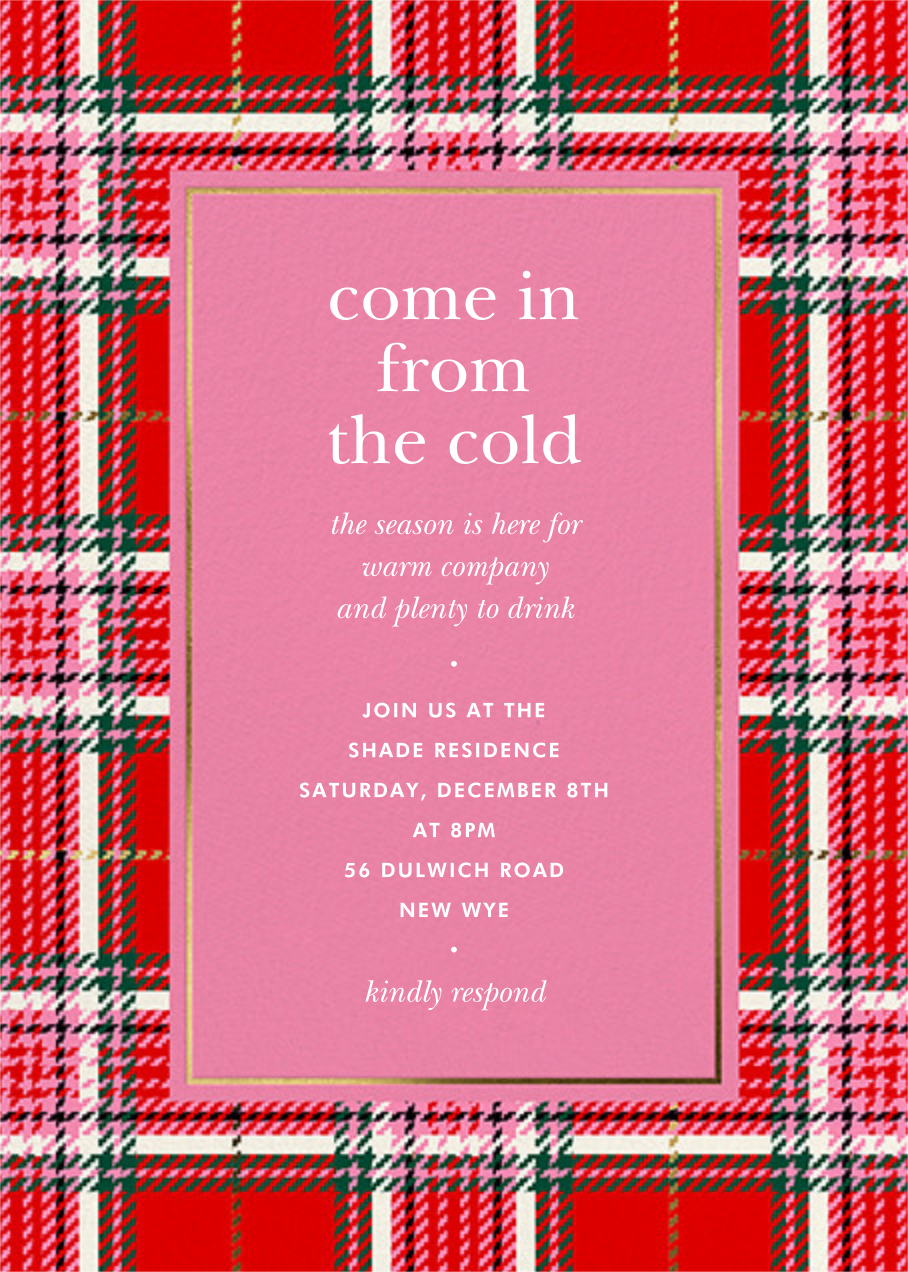 Holiday Plaid - kate spade new york - Holiday party