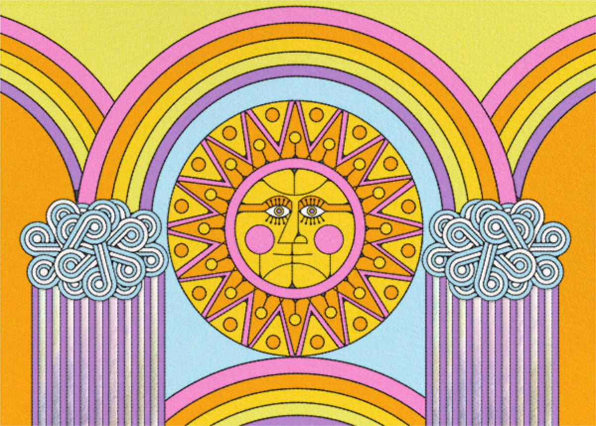 Rainbow Sun (Horizontal) (Nolan Pelletier) - Red Cap Cards - Birthday