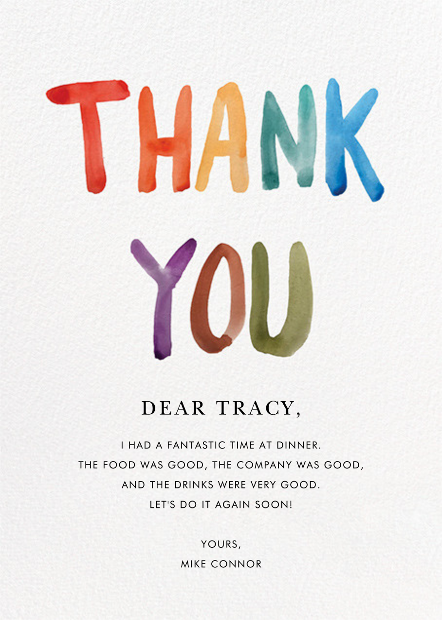 Painted Thanks - Linda and Harriett - Graduation thank you cards