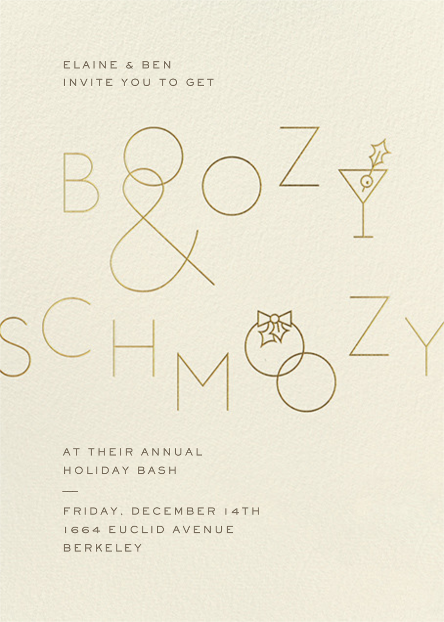 Boozy and Schmoozy - Cream - Paperless Post - Winter parties